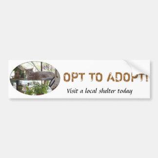 Opt to Adopt Bumper Sticker