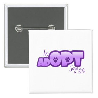 Opt To Adopt Pinback Buttons