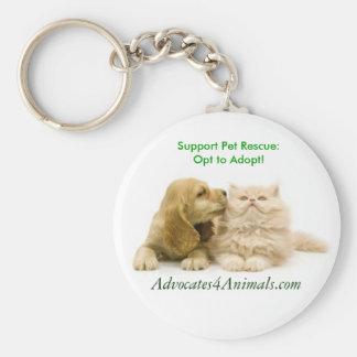 Opt to Adopt- KEYCHAIN