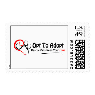 Opt To Adopt Postage Stamps