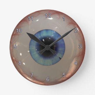 Opthamologist Eye Doctor Spooky Fun Blue Eye Clock