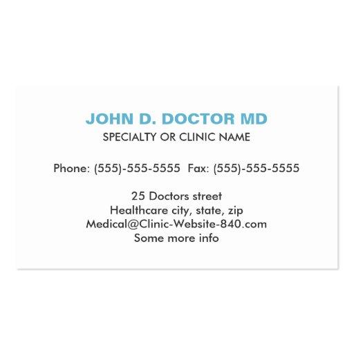 Opthamologist or optometrist gray business card (back side)