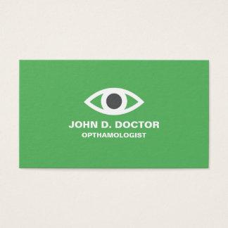 Opthamologist or optometrist green business card