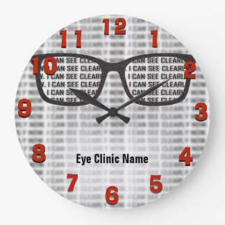 Opthamology Clinic Custom Large Clock