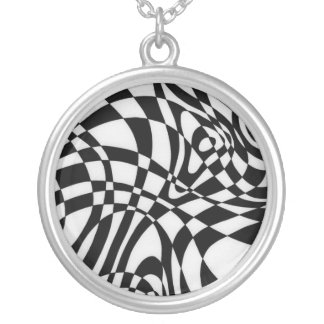 Optic #1 by Michael Moffa Silver Plated Necklace