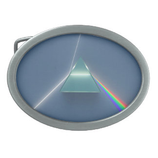 Optic Prism Refracting and Reflecting Light Oval Belt Buckles
