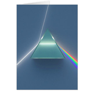 Optic Prism Refracting and Reflecting Light Card
