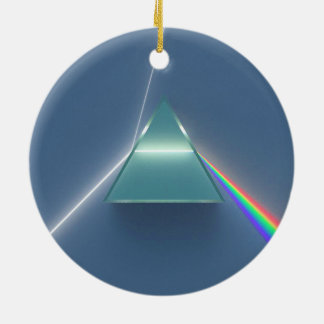 Optic Prism Refracting and Reflecting Light Ceramic Ornament