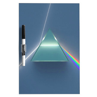 Optic Prism Refracting and Reflecting Light Dry-Erase Board