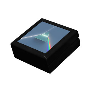 Optic Prism Refracting and Reflecting Light Jewelry Boxes