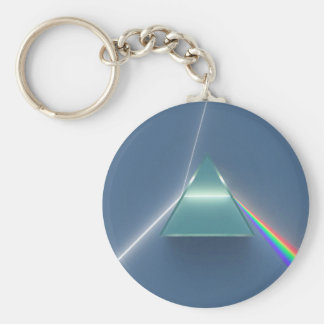 Optic Prism Refracting and Reflecting Light Keychain