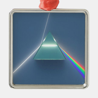 Optic Prism Refracting and Reflecting Light Metal Ornament