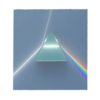 Optic Prism Refracting and Reflecting Light Note Pad