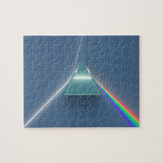 Optic Prism Refracting and Reflecting Light Puzzle
