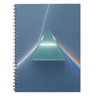 Optic Prism Refracting and Reflecting Light Spiral Notebook