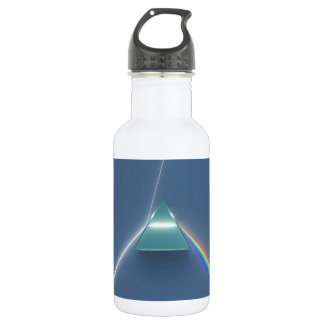 Optic Prism Refracting and Reflecting Light Stainless Steel Water Bottle