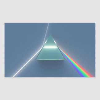 Optic Prism Refracting and Reflecting Light Rectangular Sticker