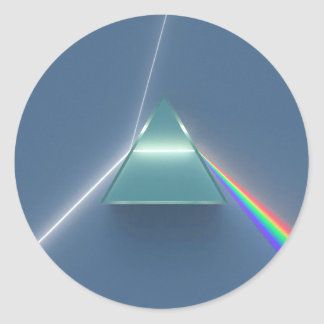 Optic Prism Refracting and Reflecting Light Classic Round Sticker