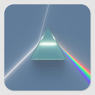 Optic Prism Refracting and Reflecting Light Square Sticker