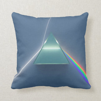 Optic Prism Refracting and Reflecting Light Throw Pillow