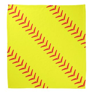 Optic Yellow Fastpitch Softball Seams Bandanna