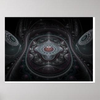 Optical Art 3D Grand Julian Fractal 01 Poster