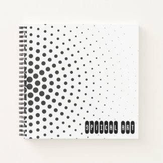 Optical Art Black and White Circles in Circles Notebook
