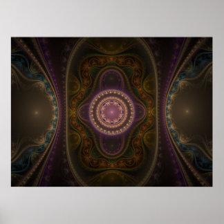 Optical Art Grand Julian Fractal 04 Poster