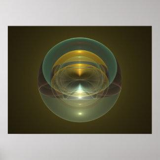 Optical Art Space Sphere Fractal 06 Poster