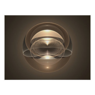 Optical Art Space Sphere Fractal 09 Poster