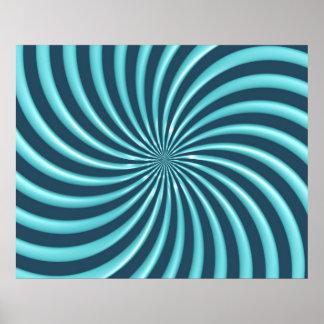 Optical Art Spiral Curves Triangle 07 Print