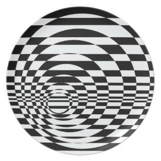 Optical Art Studio Party Plates