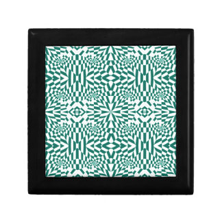 Optical Blue Green Kaleidoscope Jewelry Box