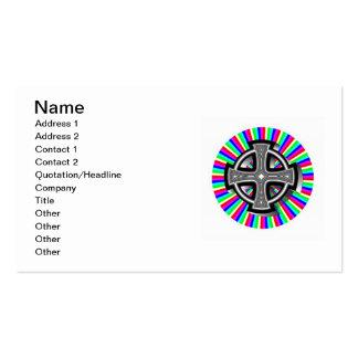 Optical Celtic Cross Business Cards