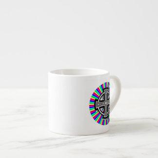 Optical Celtic Cross Espresso Mug