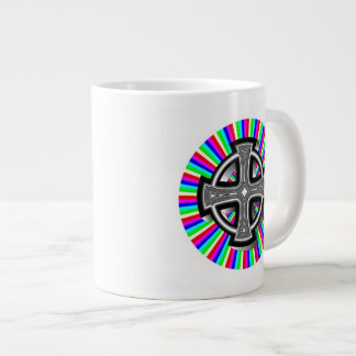 Optical Celtic Cross Jumbo Mug