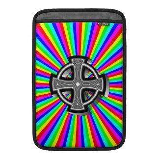 Optical Celtic Cross MacBook Sleeve