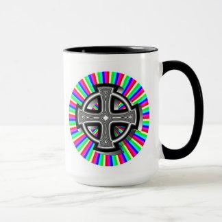 Optical Celtic Cross Mug