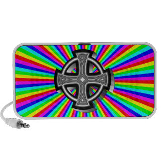 Optical Celtic Cross Portable Speakers