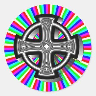 Optical Celtic Cross Sticker