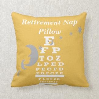 Optical Chart Retirement Pillow gold