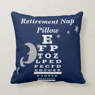 Optical Chart Retirement Pillow navy