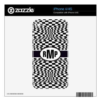 Optical Checkerboard iPhone 4S Skins