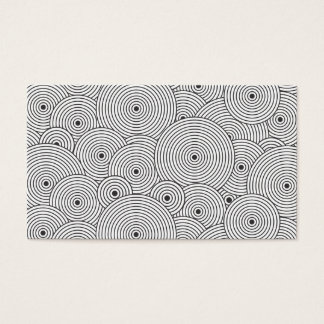 OPTICAL CIRCLES in BLACK & WHITE Business Card