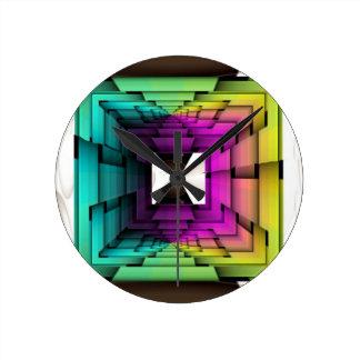 Optical Colors Round Clock
