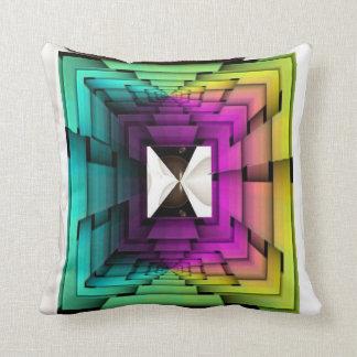 Optical Colors Throw Pillow