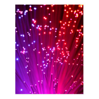 Optical Fibers Postcard