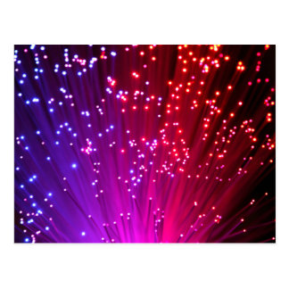 Optical Fibers Postcard