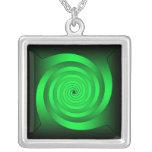 Optical Illision Green Pendant