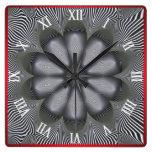 Optical Illusion #06 Square Wall Clock